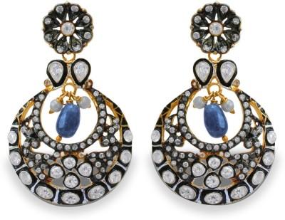 SuvidhaArts Festive Fashion Cubic Zirconia Metal Drop Earring