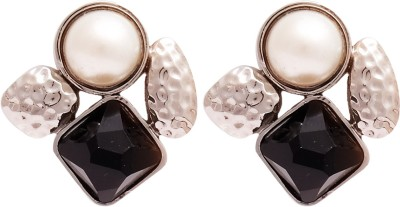 Super Drool Pearl And Crystal Alloy Stud Earring