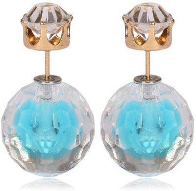Cilver Fashion Trendy Celebrity Inspired Double Faced Alloy Stud Earring