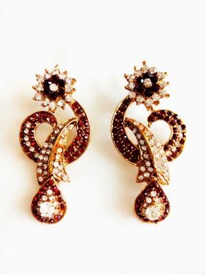 maya creation TREDITIONAL Rose Gold Drop Earring