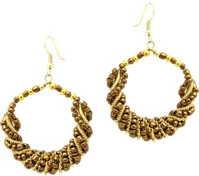 Fashion Era Golden Zig Zag Metal Dangle Earring