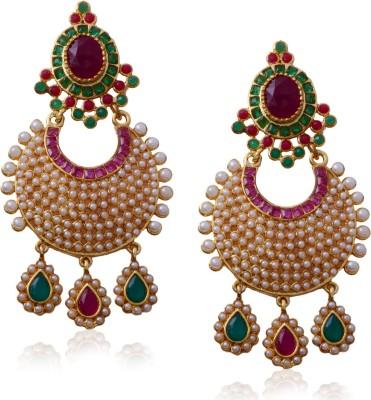 Hyderabad Jewels Beautiful Antique Hangings Pearl Copper Drop Earring