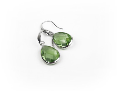 Jewelfin Green Stone Alloy Drop Earring
