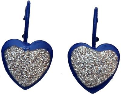 Jodhpuriyas BEAUTYFUL SPARKLING BLUE HEART EARRING Alloy Clip-on Earring