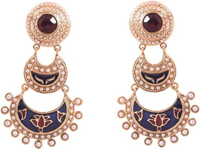 Dulhan 12 Zircon Alloy Chandbali Earring