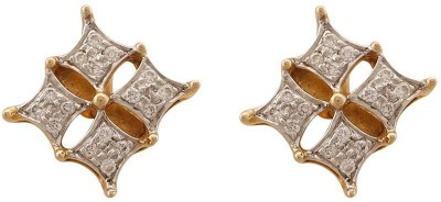 Zayah The Kite Cluster Stud Diamond Gold Stud Earring