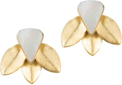 Mehtaphor Parni Brass Stud Earring