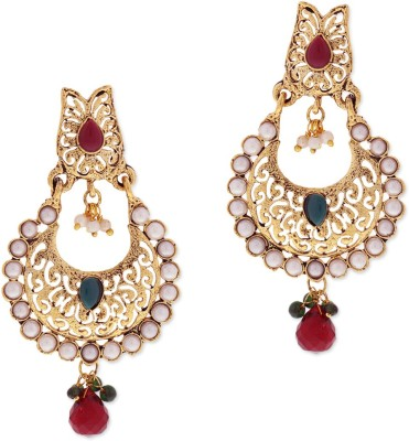 Sia Art Jewellery Moti Chand Earring Alloy Drop Earring