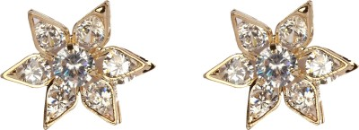 Divitha Allure Shining star glass stone metal stud from Divitha Allure. Alloy Stud Earring
