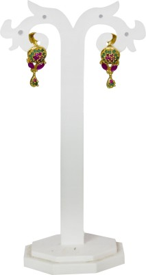Jewelgrab Sai Ruby Emerald Alloy Drop Earring