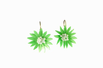 Ba No Batwo spring flower Metal, Plastic Dangle Earring