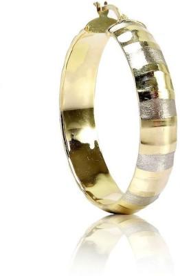LeCalla Glossy Diamond Cut Large Sterling Silver Hoop Earring