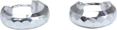 JHL Silver Cut Design Bali Silver Hoop Earring