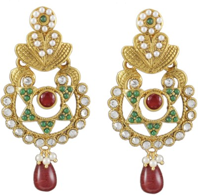 Karatcart Traditional Copper Chandbali Earring