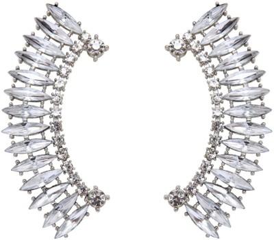 Amroha Crafts Princess Affair Crystal Alloy Cuff Earring