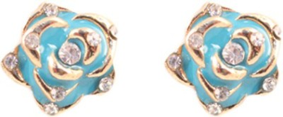 Itzmyfashion Blue Rose Alloy Stud Earring
