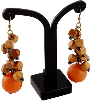 ChicKraft ChicKraft Wood, Resin, Alloy Drop Earring