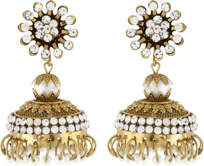 Dimple Creation Spring Sparkle Alloy Jhumki Earring