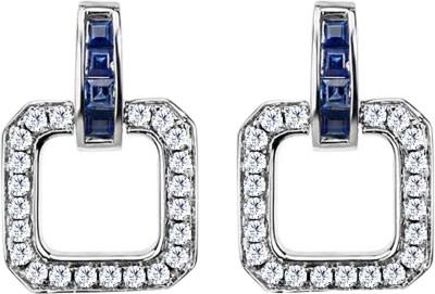 JacknJewel Vintage White Gold 18kt Diamond Stud Earring