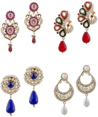 Buyclues RCCJ3425 Crystal Brass Earring Set