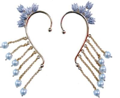 Uzuri Beautiful Sparkling combo of 2 Copper Cuff Earring