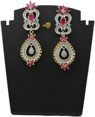 Bharat Sales Shining Diva Latest Bollywood cuff Cubic Zirconia Alloy Chandelier Earring