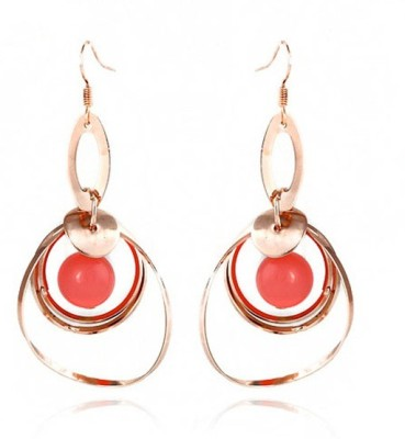 Jewel Touch Pink Love Alloy Dangle Earring
