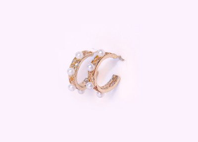 Bigpout Baby Pearl Alloy Hoop Earring