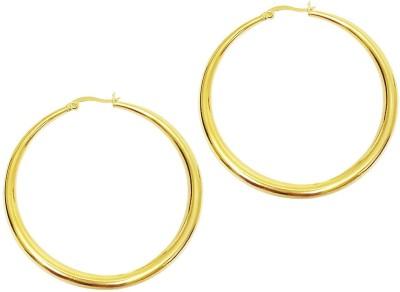 Mehrunnisa 18k Gold Tone Big Round Hoop Metal Hoop Earring