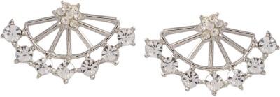 Ark Gorgeous Sparkle Cubic Zirconia Alloy Chandbali Earring