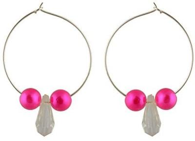 TrinketsANDTreasures Pink Alloy Hoop Earring