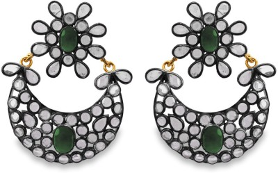 SuvidhaArts Trendy Fashion Cubic Zirconia Metal Chandelier Earring