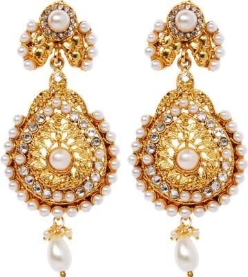 Rays 843007151 Pearl, Crystal Copper, Zinc Drop Earring