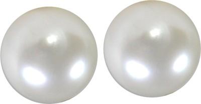 Pearl Paradise Clobe(A). Pearl Brass Stud Earring