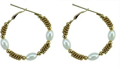 Suvini Ethnic Gold Toned Alloy Hoop Earring