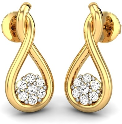 Candere Ahana Yellow Gold 14kt Diamond Stud Earring