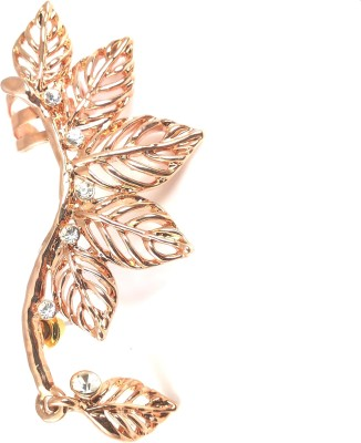 Ammvi Rose Gold Dangling Leaves Alloy Cuff Earring