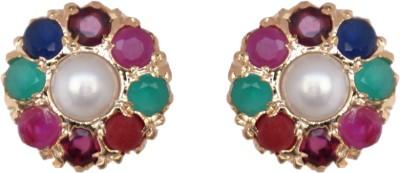 Janki Jewellers Party Wear Cubic Zirconia Alloy Stud Earring