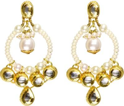 Rasaam Straight hoop kundan Beads Alloy Chandbali Earring