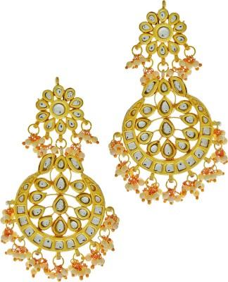 Being Snazzy Small Kundan Beads Alloy Chandbali Earring