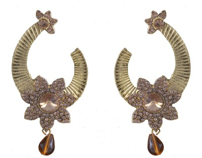 Graykart Indian Stylish Gold Plated Beautiful Ethnic Designer Alloy, Zinc Drop Earring