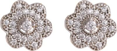 Abhijewels American Diamond Rhodium Plated Alloy Stud Earring