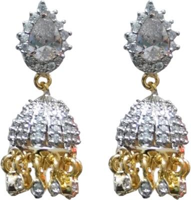 Sheetal Jewellery Cubic Zirconia Brass, Alloy Jhumki Earring