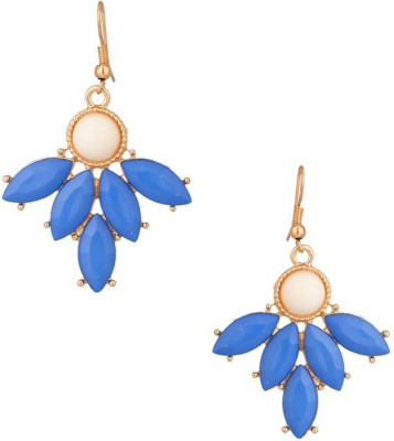 Fabula royal blue floral Metal Dangle Earring