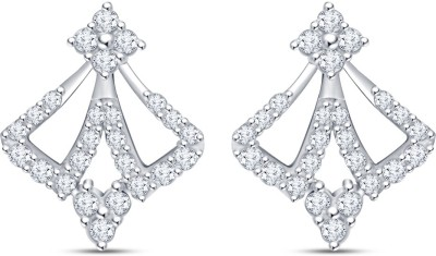Mani Jewel Floral White Gold 18kt Diamond Stud Earring