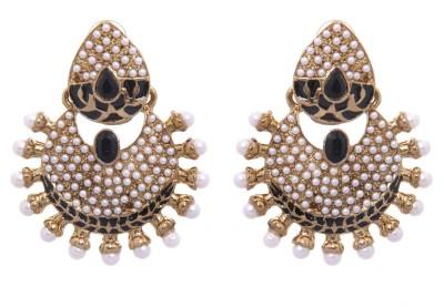 Kaizer Jewelry Party Wedding Sparkle Alloy Chandbali Earring