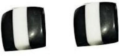 VML Vml Simple Black And White Earring Alloy Stud Earring