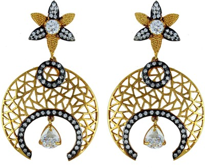 Gehnamart Ad With Filigree Design Brass Drop Earring