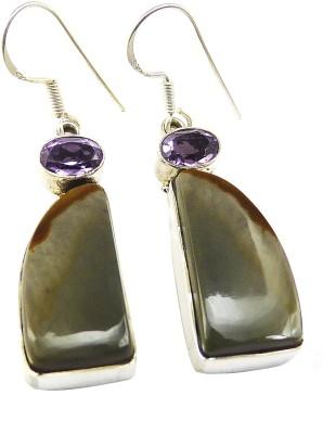 Miska Silver Beautiful Amethyst Silver Dangle Earring
