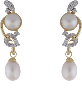 Jewel Planet Simple Pearl Alloy Drop Earring